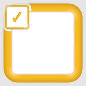 Vector text box for any text with check box — Stockvektor