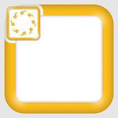Vector text box for any text with arrows — Stok Vektör