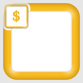 Vector text box for any text with dollar sign — Stockvektor