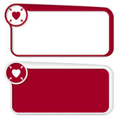 Set of two vector text box with arrows and heart — Stock Vector