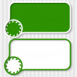 Set of two green text boxes and arrows — Stock Vector #46755821