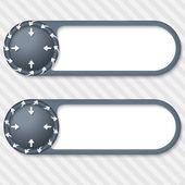 Ensemble de deux boutons de vecteur avec des flèches — Vecteur