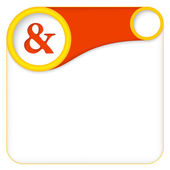 Color box for entering text with ampersand — Stock Vector