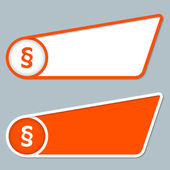 Two orange boxes for any text with paragraph — Vector de stock