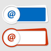 Set of two frames for insertion text with email icon — Vector de stock