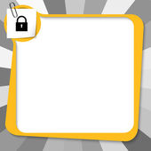 Yellow text box with paper clip and padlock — ストックベクタ