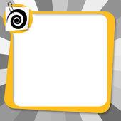 желтое поле с скрепке и спирали — Cтоковый вектор