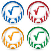 Set of four icon with radix symbol — Stock Vector