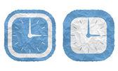 Due fotogrammi con carta trama stropicciata e orologi — Vettoriale Stock