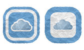 Two frames with texture crumpled paper and cloud — Stockvector