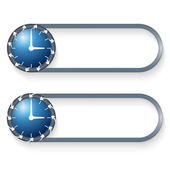 Set of two buttons with arrows and watches — Stockvector