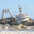 Shipwreck along the Skeleton Coast — Stock Photo