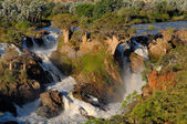 Epupa waterfalls in on the border of Angola and Namibia — Stock Photo