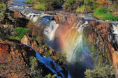 Sunset at the Epupa waterfall, Namibia — Stockfoto