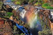 日落在埃普帕瀑布,纳米比亚 — 图库照片