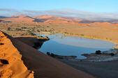 A flooded Sossusvlei in the Namib Desert — Stock Photo