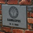 Commemorative plaque at Sannaspos — Stock Photo
