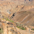 Start of the five day hiking trail in the Fish River Canyon. Hob — Stock Photo #41666219