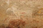 White elephant San painting — Stock Photo