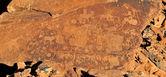 Rock gravures op twyfelfontein, namibië — Stockfoto