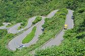 弯曲的路 — 图库照片