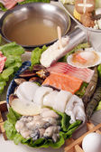Seafood hot pot — Stock Photo