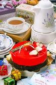Strawberry Mousse Cake — Stock Photo