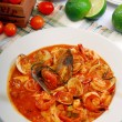 Italian seafood rice — Stock Photo