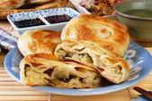 Green onion pancake — Stock Photo