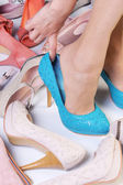 High-heeled shoes — Stock Photo