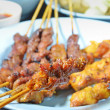 Beef and Chicken Satay — Stock Photo
