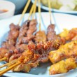 Stock Photo: Beef and Chicken Satay