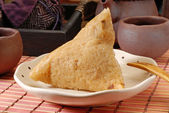 Steamed rice dumpling — Stock Photo