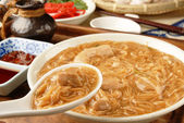 Pork intestine thin noodles — Stockfoto