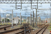 Railway rail — Stock Photo