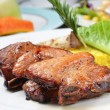 Roasted pork ribs — Stock Photo