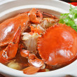 Stock Photo: BRAISED CRAB AND CHINESE VERMICELLI