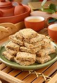 Square cookies — Stock Photo