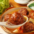 Braised pork balls in soy sauce — Stock Photo