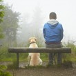 Man with his dog — Stock Photo #22807162