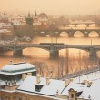 Prague in winter — Stock Photo