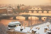 Praag in de winter — Stockfoto