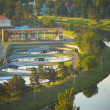 Waste water treatment plant — ストック写真