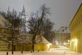 Prague castle in winter — Stock Photo