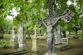 Cross on the grave — Stock Photo