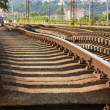 Stock Photo: Replacement of railroad track