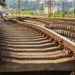 Replacement of railroad track — Stock Photo