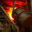 Molten hot steel — Stock Photo