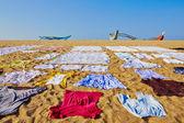 Laundry on the beach — Photo