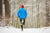 Winter jogging — Stock Photo